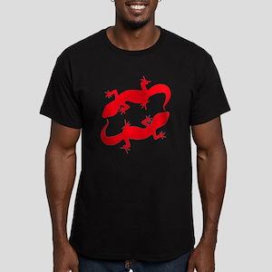 Red Leopard Geckos Men's Fitted T-Shirt (dark)