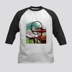 Red Tractor Kids Baseball Jersey
