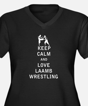 Keep Calm and Love Laamb Wrestling Plus Size T-Shi