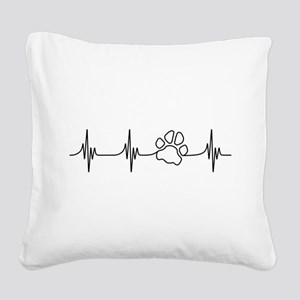 Paw Beat Square Canvas Pillow