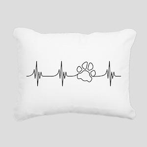 Paw Beat Rectangular Canvas Pillow