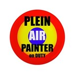 "Plein Air Painter On Duty 3.5"" Button"