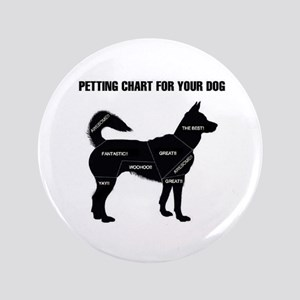 "Petting chart for your Dog 3.5"" Button"