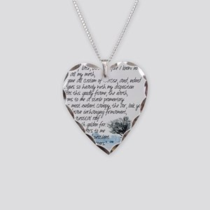 Sterile Promentory Necklace Heart Charm