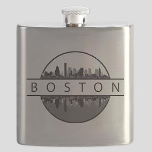 Boston Massachusetts Skyline Flask