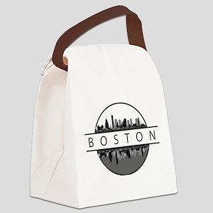 Boston Massachusetts Skyline Canvas Lunch Bag