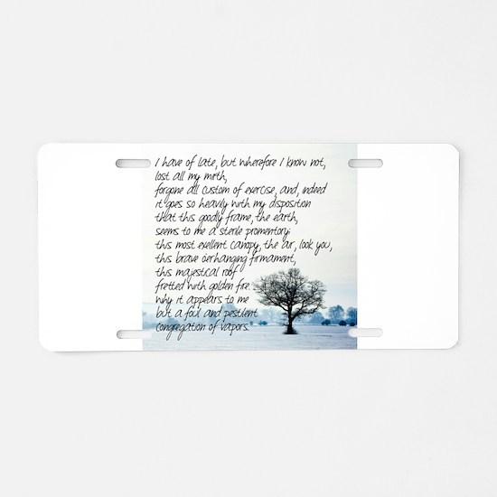 Sterile Promentory Aluminum License Plate
