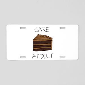 cake_addict Aluminum License Plate