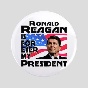 """Reagan 4ever 3.5"""" Button"""