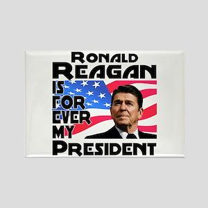 Reagan 4ever Rectangle Magnet