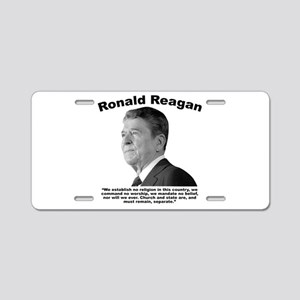 Reagan: Religion Aluminum License Plate