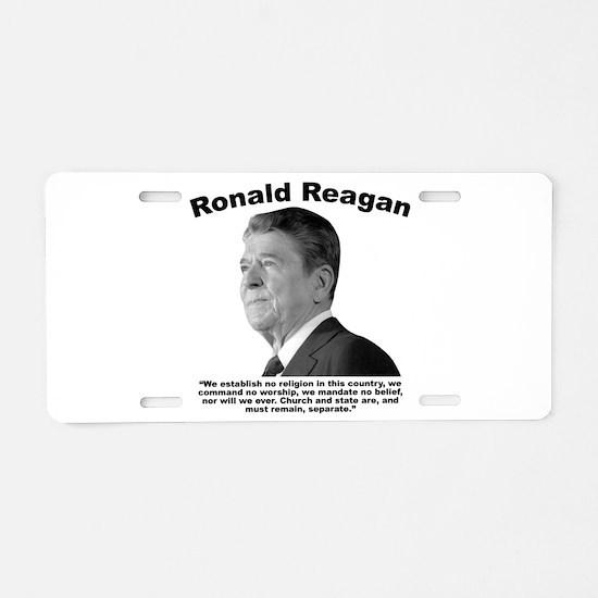 Reagan: Religion Aluminum License Plate