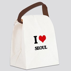 I love Seoul Canvas Lunch Bag