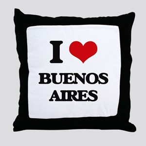 I love Buenos Aires Throw Pillow