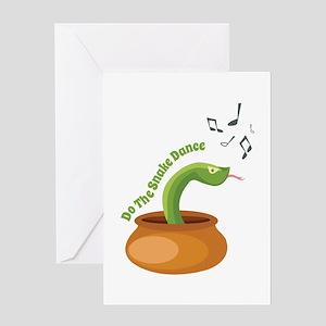 Snake Dance Greeting Cards