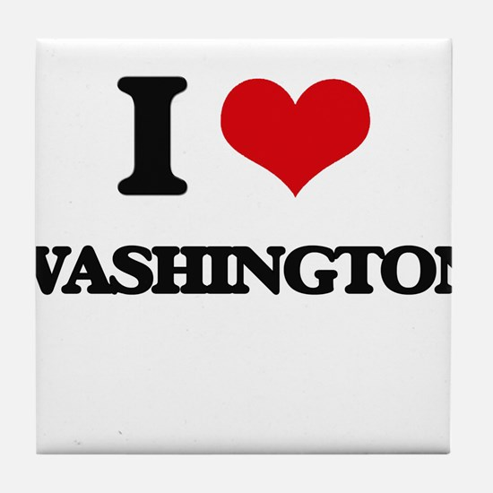 I love Washington Tile Coaster