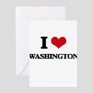 I love Washington Greeting Cards
