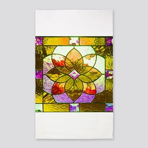 Harvest Gold Stained Glass Area Rug