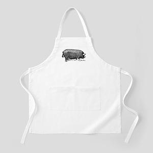 Hog Wild! Antique Image of Farm Pig Apron