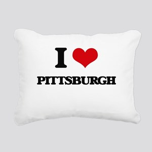 I love Pittsburgh Rectangular Canvas Pillow