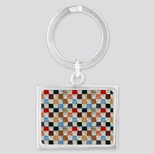 Colorful quilt pattern Keychains