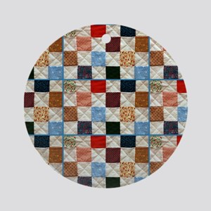Colorful quilt pattern Ornament (Round)