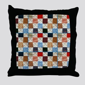 Colorful quilt pattern Throw Pillow