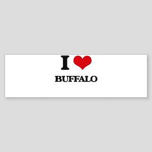 I love Buffalo Bumper Sticker