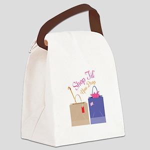 Shop Til You Drop Canvas Lunch Bag