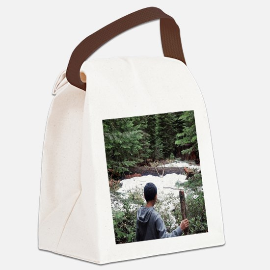 Boy in the Woods Canvas Lunch Bag