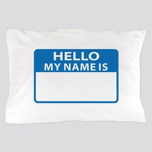 NAME DROP NAME TAG Pillow Case