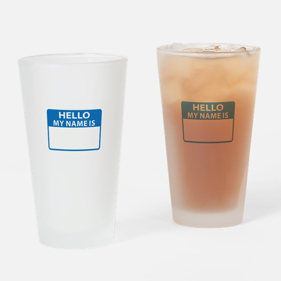 NAME DROP NAME TAG Drinking Glass