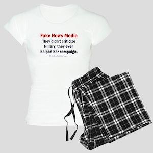 Hillary's Fake News Media Women's Light Pajamas