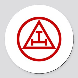 ROYAL ARCH MASONS CIRCULAR Round Car Magnet