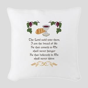 BREAD OF LIFE Woven Throw Pillow