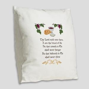 BREAD OF LIFE Burlap Throw Pillow