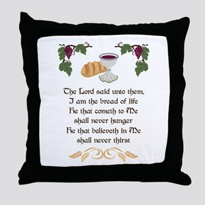 BREAD OF LIFE Throw Pillow