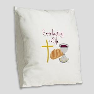 EVERLASTING LIFE Burlap Throw Pillow