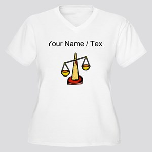 Custom Scale Of Justice Plus Size T-Shirt