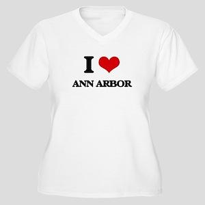 I love Ann Arbor Plus Size T-Shirt