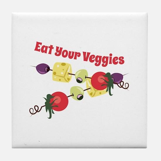 Eat Your Veggies Tile Coaster