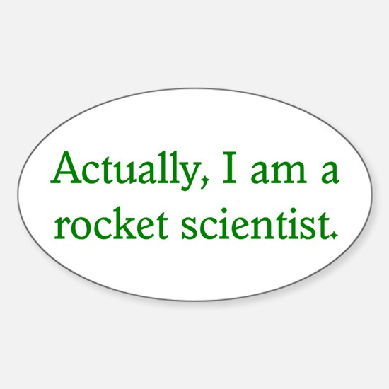 Rocket Scientist Oval Decal