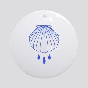 BAPTISM SHELL Ornament (Round)
