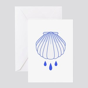BAPTISM SHELL Greeting Cards