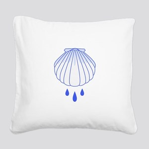 BAPTISM SHELL Square Canvas Pillow