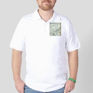 Ocracoke Inlet Map - Blackeard's Anchor Golf Shirt