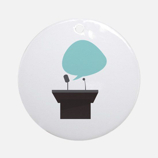 Speech_Base Ornament (Round)