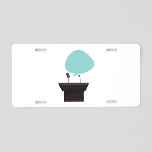 Speech_Base Aluminum License Plate