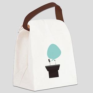 Speech_Base Canvas Lunch Bag