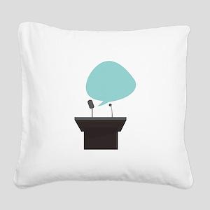 Speech_Base Square Canvas Pillow